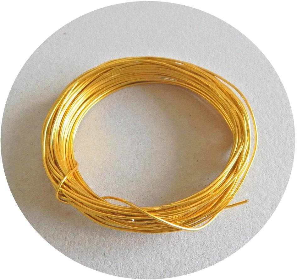 Aluminiový drát, 1,2mm, pozlacený, balení 1 m