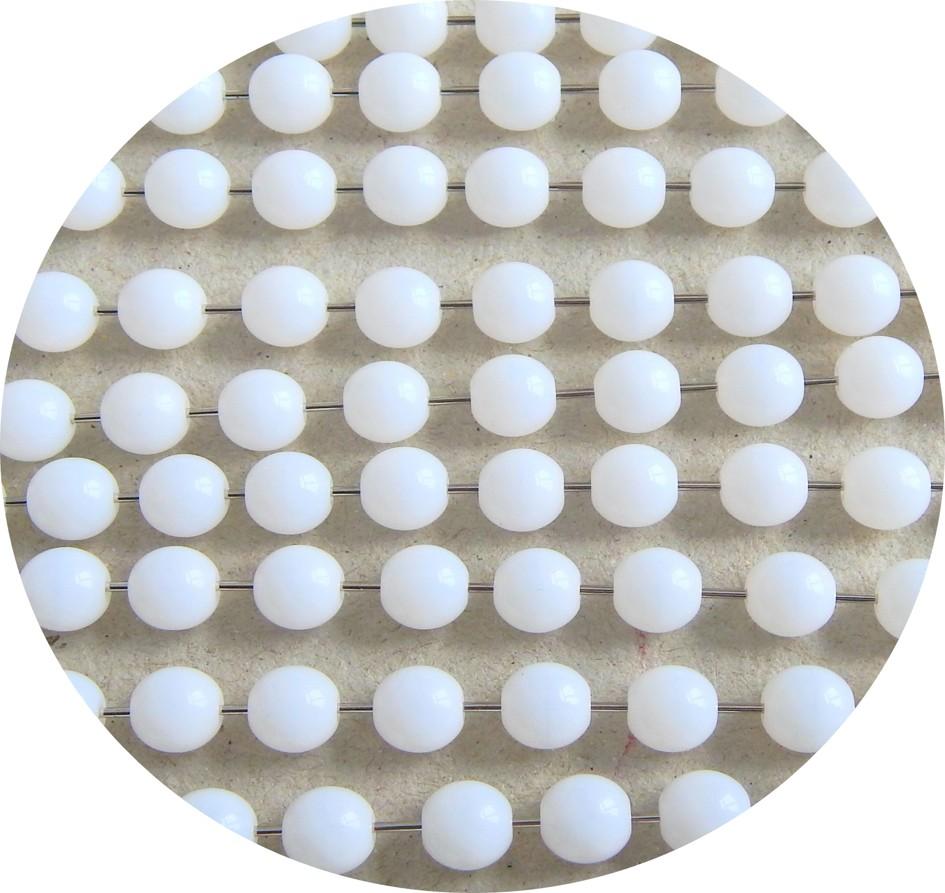 Mačkaná skleněná kulička 04mm, alabastr, balení 60 ks