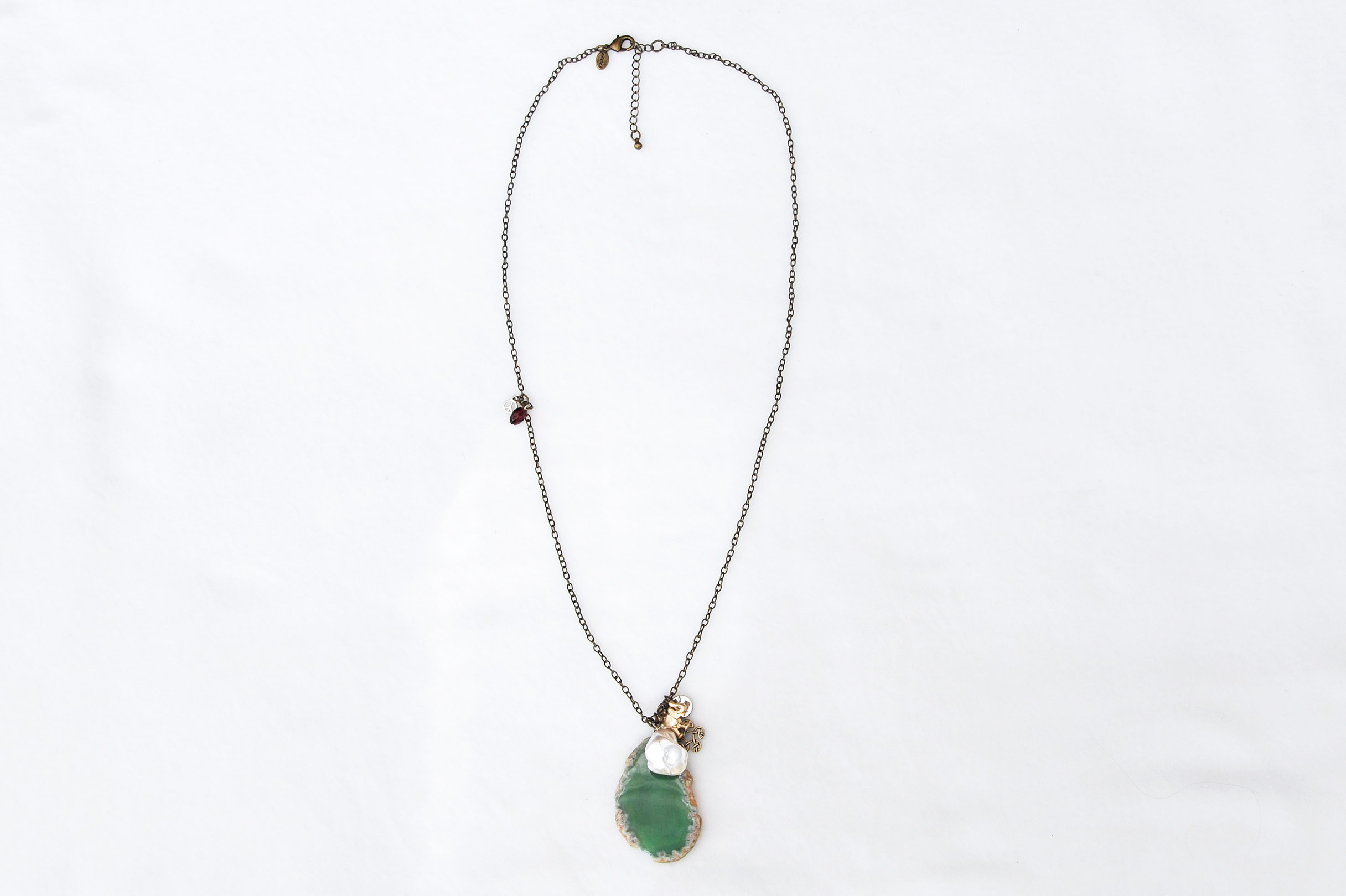 Necklace with Gem Stone. Design Providence Rhode Island USA