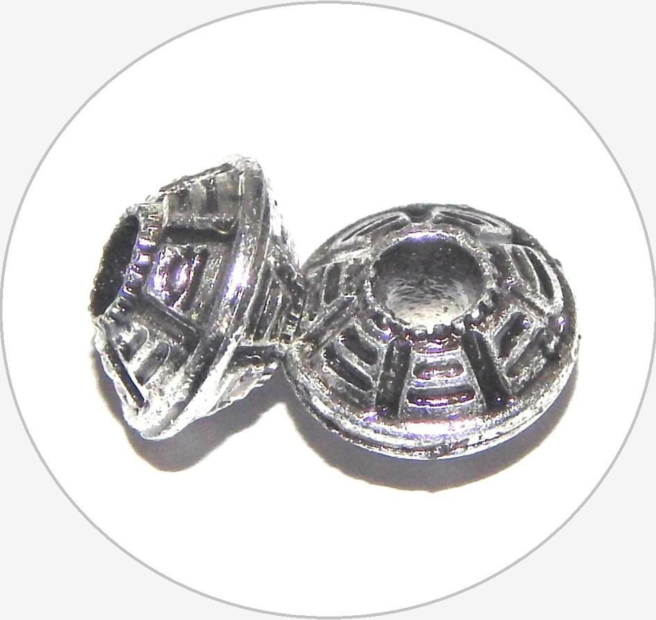 Akrylové korálky - váleček, 7x10mm, balení po 10 ks