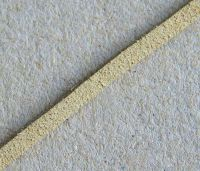 Leather imitation, 3 mm, cca 90 cm, natural, packing 1pc