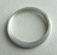 Paměťový drát - postříbřený, průměr 6cm, balení 10g