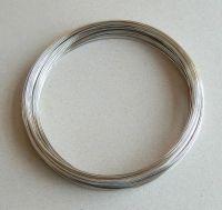 Memory wire - platinum, diameter 11,5 cm, strenght 0,8mm, packing 10g