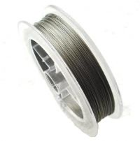 Tiger Tail Wire, 7strand, grey, 100m, packing 1pc