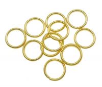 Iron closed jump ring 10x1.2mm, gold, packing 15 g (approx. 59 pcs)