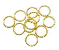 Kroužek pérový 10x1.2mm, pozlaceno,  balení 15 g (cca 59 ks)
