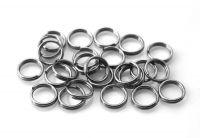 Iron split ring 6x0.7mm, hematite, packing 15 g (approx. 144 pcs)
