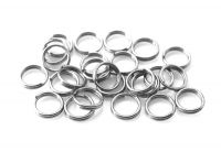 Iron split ring 6x0.7mm, silver, packing 15 g (approx. 144 pcs)