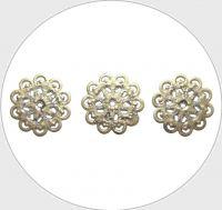 Filigránový mezidíl, květina 20mm, bronz, balení 10 ks