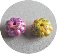 Acrylic beads 17x17x9mm, mixed colours, packing 2 pc