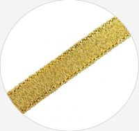 Sparkle Ribbon 10mm, double-side, col. B gold, 22-23m, packing 1pc
