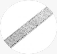 Sparkle Ribbon 10mm, double-side, col. A silver, 21-22m, packing 1pc