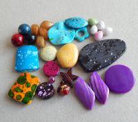 Akrylové korálky, vel.04-46mm, různé barvy a tvary, balení 100g