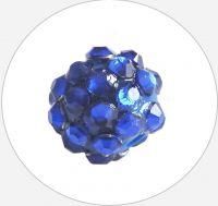 Šatonová kulička plast 10x12mm, modrá, balení 1 ks