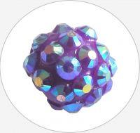 Plastic Rhinestone Bead 10x12mm, violet, packing 1 pc