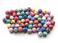 Plastové korálky, mix barev, 6mm, balení 100 ks