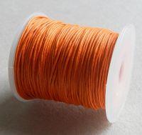 Vosková šňůra 1mm, 100 yard (91,4m), oranžová, balení 1 ks