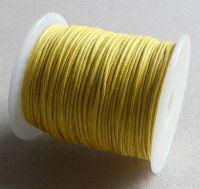 Vosková šňůra 1mm, 100 yard (91,4m), col.110, žlutá, balení 1 ks