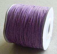 Vosková šňůra 1mm, 100 yard (91,4m), sv.fialová, balení 1 ks