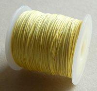 Vosková šňůra 1mm, 100 yard (91,4m), sv.žlutá, balení 1 ks