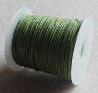Vosková šňůra 1mm, 100 yard (91,4m), zelená, balení 1 ks