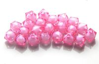 Bead in bead acrylic, 6x8mm, pink, pack 30 pcs