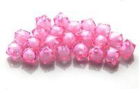 Korálek v korálku akryl, 6x8mm, růžový, balení 30 ks