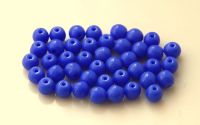 Pressed glass round 04mm, opaque dark blue, packing 60 pcs