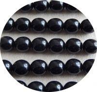 Mačkaná skleněná kulička 05mm, černá s AB, balení 30 ks
