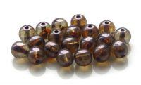 Mačkaná kulička 06mm, krystal s listrem, balení 30 ks