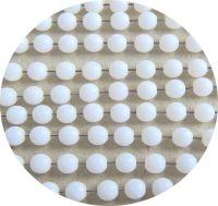 Mačkaná skleněná kulička 06mm, alabastr,  balení 30 ks