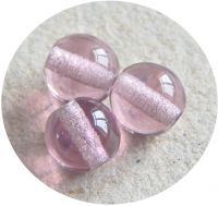 Pressed glass round 06mm, amethyst, packing 30 pcs