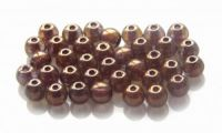 Pressed crystal round bead with luster 10mm, packing 10 pcs