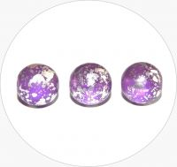 Pressed beads - violet with silver, 12mm, packing 10 pcs