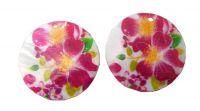 Přívěsek perleť potištěná 40mm, vzor 48, balení 1 ks