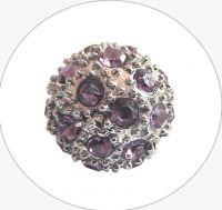 Rhinestone bead 12mm,col.F-amethyst Ag, packing 1 pc