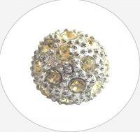 Rhinestone bead 12mm,col.G- topaz Ag, packing 1 pc