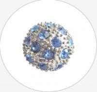 Rhinestone bead 12mm,col.H-sapphire Ag, packing 1 pc