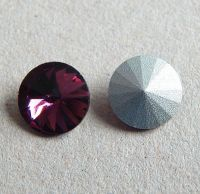 Rivoli 12x12x6mm simili, garnet, balení 2ks