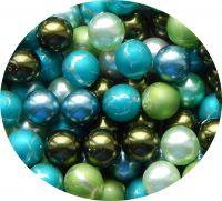 Perle voskové, mix různých velikostí,tvarů a barev, balení 25g