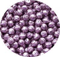 Voskové perle, tvar 8mm, fialová, balení 30ks