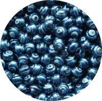Voskové perle, tvar 08mm, tmavě modrá, balení 30 ks