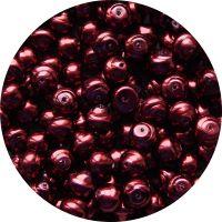 Voskové perle, tvar 10mm, růžová, balení 15ks