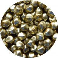 Voskové perle 13x14mm, zlatá mat, balení 10 ks