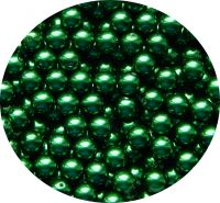 Glass pearls, green, 6mm, packing 30 pcs