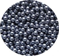 Voskové perle, šedé, 7mm, balení 30 ks