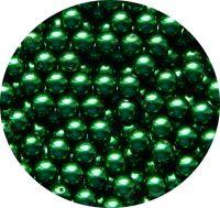 Voskové perle 08mm, tmavě zelená, balení 20 ks
