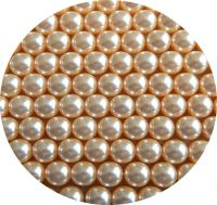 White glass pearls 10mm, packing 10 pcs