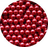 Voskové perle 10mm, vínová, balení 10 ks
