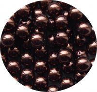 Voskové perle 12mm, hnědá, balení 10 ks